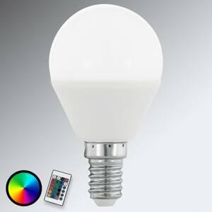 EGLO E14 4W 830 kvapková LED žiarovka matná RGB