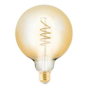 EGLO LED žiarovka Globe E27 4W jantár Ø 12,5cm