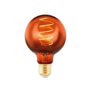 EGLO LED žiarovka Globe E27 4W meď naparená Ø 8cm