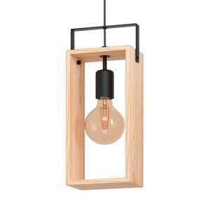 EGLO Závesná lampa Famborough z dreva, 1-plameňová