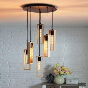 EGLO Závesná lampa Littleton, šesť-plameňová