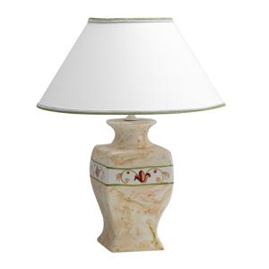 Eurokeramic Keramická stolná lampa Marmorino látkové tienidlo