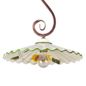 Eurokeramic Závesná lampa Rusticana so zavesením v tvare s