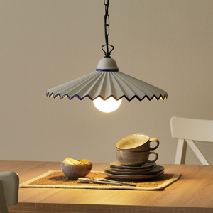 Eurokeramic Augustus – závesná lampa v štýle vidieckeho domu