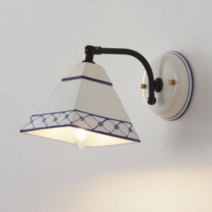 Eurokeramic Nástenné svietidlo Murano v štýle vidieckeho domu