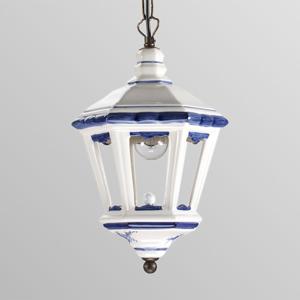 Eurokeramic Adonia – závesná lampa v tvare lucerny