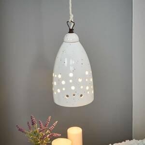 Eurokeramic Nadol vyžarujúca závesná lampa Gisella – keramika