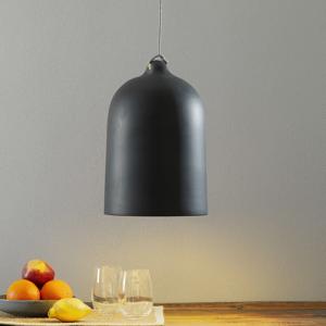 Eurokeramic Závesná lampa Cottura z keramiky, bridlicovosivá