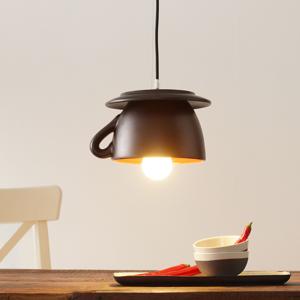 Eurokeramic Závesná lampa S181 RSS čierna matná/červená