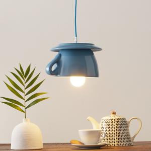 Eurokeramic Keramická závesná lampa S184, belasá