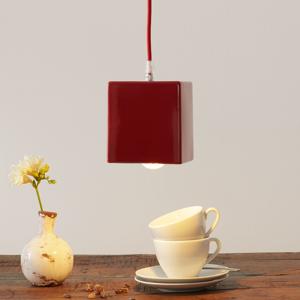 Eurokeramic Keramická závesná lampa S1862, červená/modrá