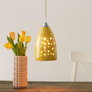 Eurokeramic Keramická závesná lampa S1815 v žltej