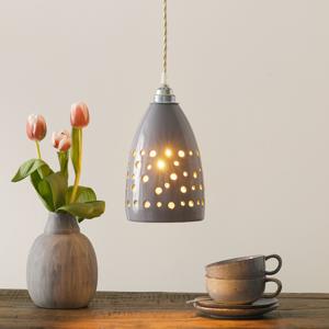Eurokeramic Keramická závesná lampa S1815 v sivej