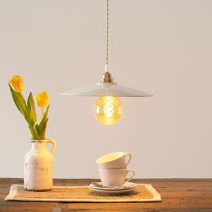 Eurokeramic Keramická závesná lampa S1890, biela/zlatá