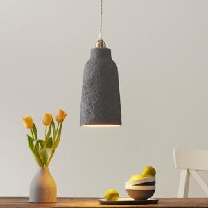 Eurokeramic Keramická závesná lampa S1828, cementová sivá