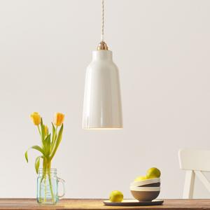 Eurokeramic Keramická závesná lampa S1829, lesklá biela