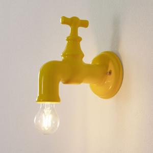 Eurokeramic Keramické nástenné svietidlo A189 lesklé žlté