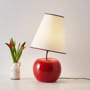Eurokeramic Stolná lampa L187 RSS keramický podstavec jablko