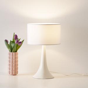 Eurokeramic Stolná lampa L1810 keramický podstavec, biela