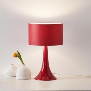 Eurokeramic Stolná lampa L1810 keramický podstavec červená