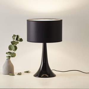 Eurokeramic Stolná lampa L1810 keramický podstavec čierna