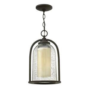 HINKLEY Závesná lampa s dvojitým tienidlom Quincy exteriér