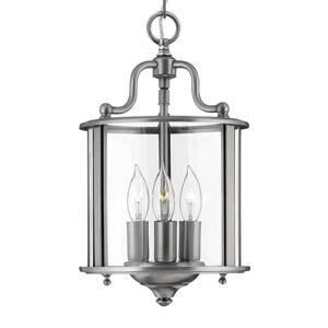 HINKLEY Závesná lampa Gentry pocínovaná