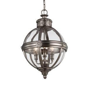 FEISS Závesná lampa Adams Ø 37cm nikel