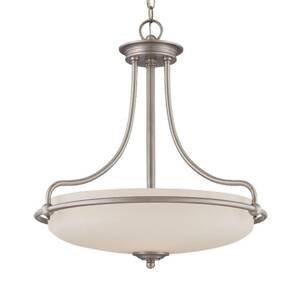 QUOIZEL Závesná lampa Griffin-starožitný nikel