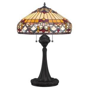 QUOIZEL Stolová lampa Belle Fleur v štýle Tiffany