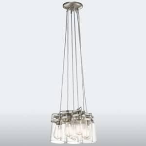 KICHLER Pospájaná závesná lampa Brinley 6-plameňové