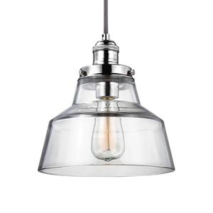 FEISS Závesná lampa Baskin A – záves leštený nikel