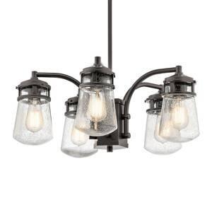 KICHLER Vonkajšia závesná lampa Lyndon, 5-plameňová