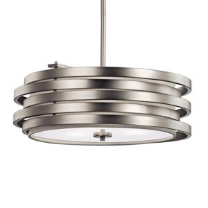 KICHLER Závesná lampa Roswell, okrúhly tvar