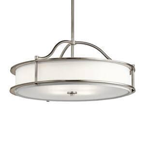 KICHLER Závesná lampa Emory pocínovaná Ø 61cm