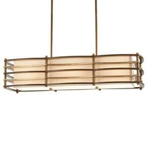 KICHLER Závesná lampa Moxie dlhý tvar, 91x30cm