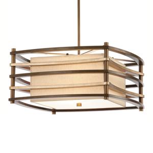 KICHLER Závesná lampa Moxie štvorec, 45x45cm