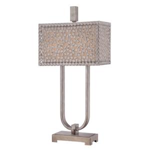 QUOIZEL Stolná lampa Confetti v striebornej starožitná