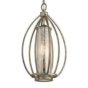 KICHLER Závesná lampa Rosalie so zlatou úpravou