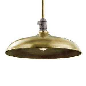 KICHLER Závesná lampa Cobson Ø 40,7cm mosadz