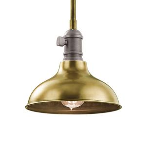 KICHLER Závesná lampa Cobson Ø 20,3cm mosadz
