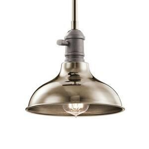 KICHLER Závesná lampa Cobson Ø 20,3cm leštený nikel