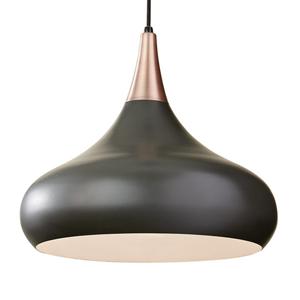FEISS Závesná lampa Beso tmavý bronz Ø 45,6cm