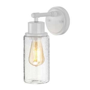 Elstead Nástenné svietidlo Morvah do kúpelní v bielej