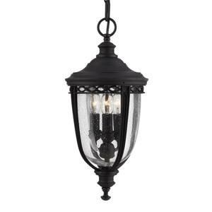 Elstead Závesná lampa English Bridle do exteriéru, čierna