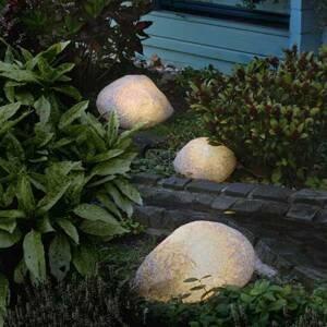 Epstein Kamenné lampy s gumovým pripojením, žula 40 cm