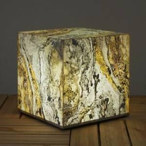 Epstein Svetlo v tvare kocky v prírodnej bridlici 39 cm