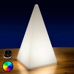 Epstein Batériou napájaná RGB LED Pyramída, 54 cm
