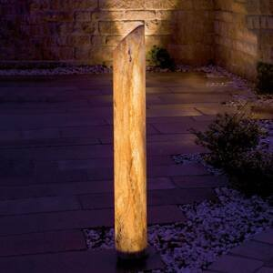 Epstein Svietiaci LED stĺpik Sahara s pieskovcom, 41cm