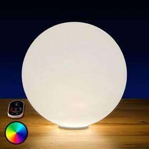 Epstein RGB LED guľa Snowball do exteriéru s batériou 40cm